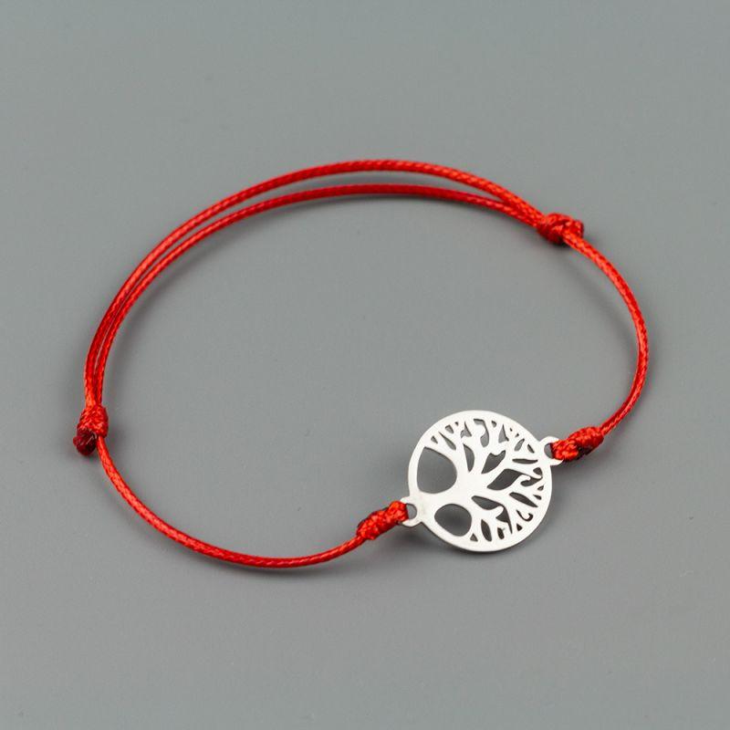 """Дамска гривна """"Дървото на живота"""" с червен конец"""