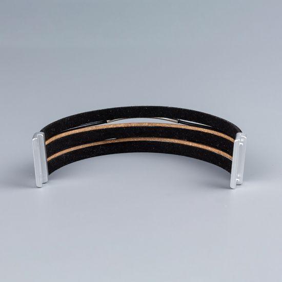 Дамска ривна от естествена кожа Black Shimmer