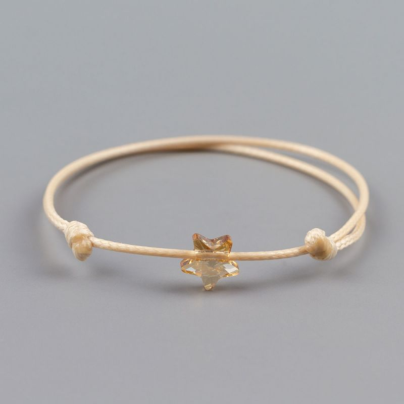Бежова гривна със звезда кристал Swarovski elements