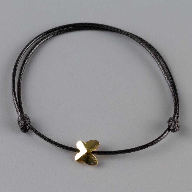 Гривна с пеперуда кристал Swarovski в златист цвят