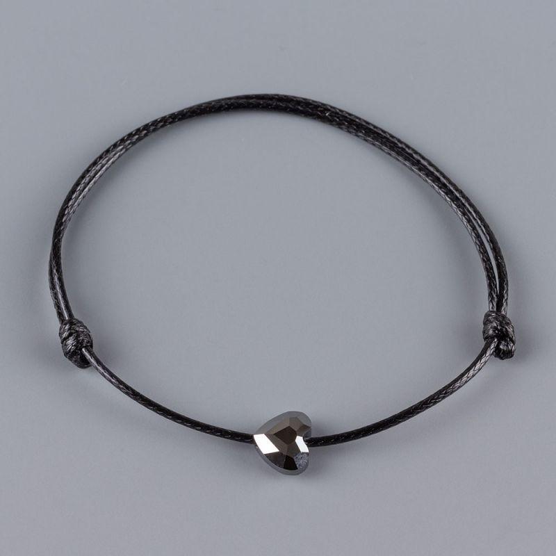Гривна със сърце кристал Swarovski цвят Silver Night