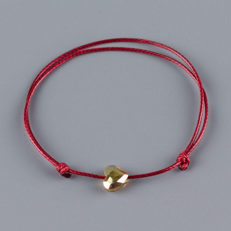 Гривна със златисто сърце кристал Swarovski