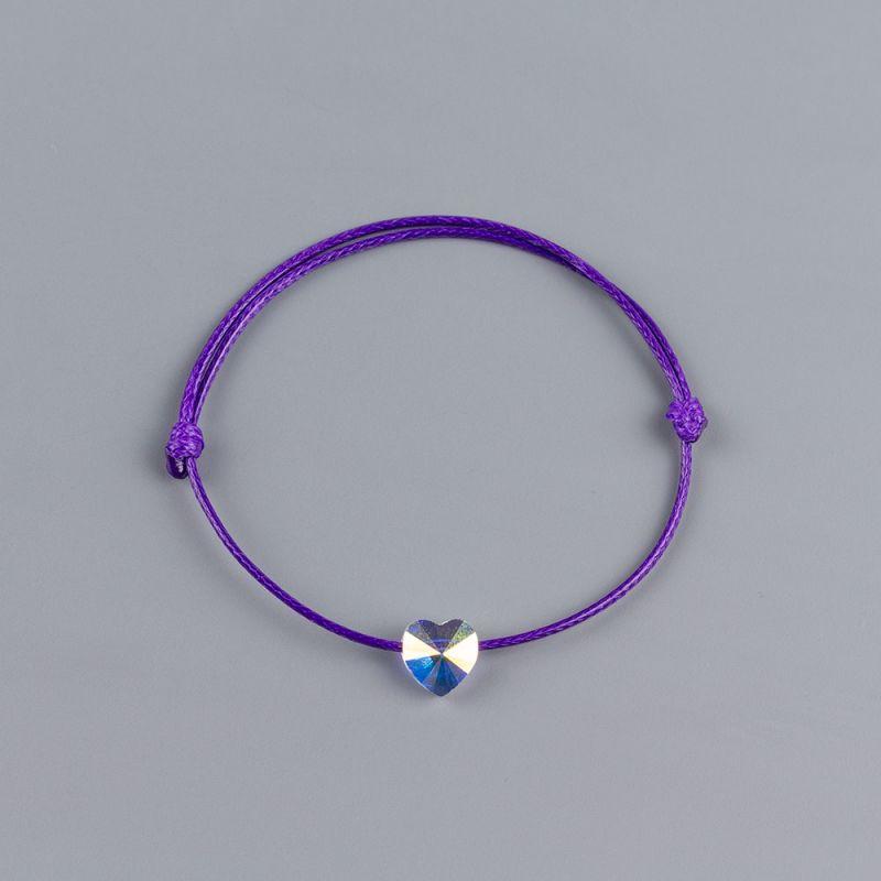 Лилава гривна със сърце кристал Swarovski® elements AB
