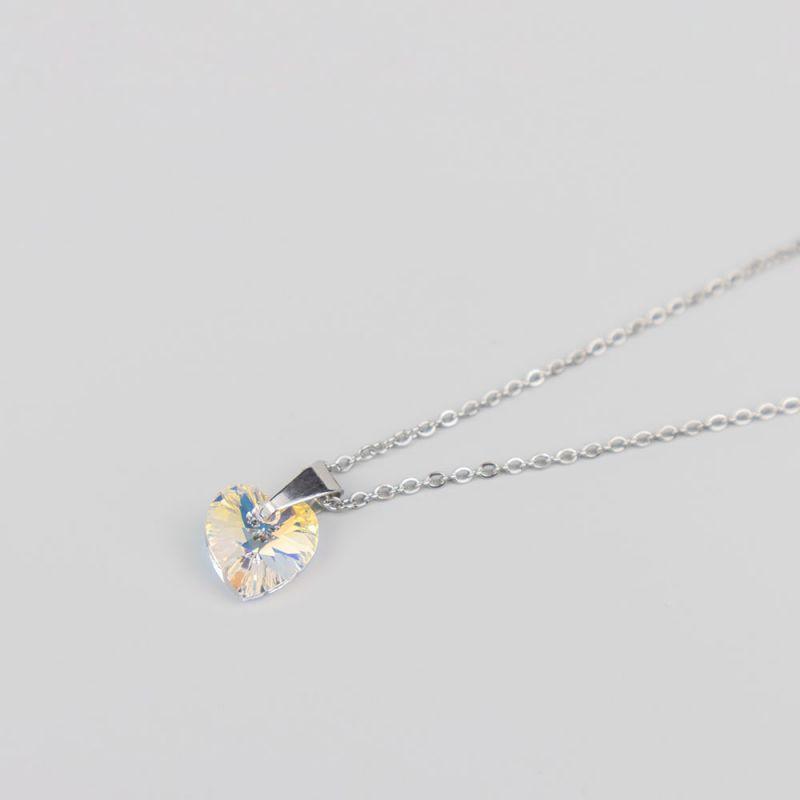Дамско колие с кристал Swarovski сърце Crystal AB