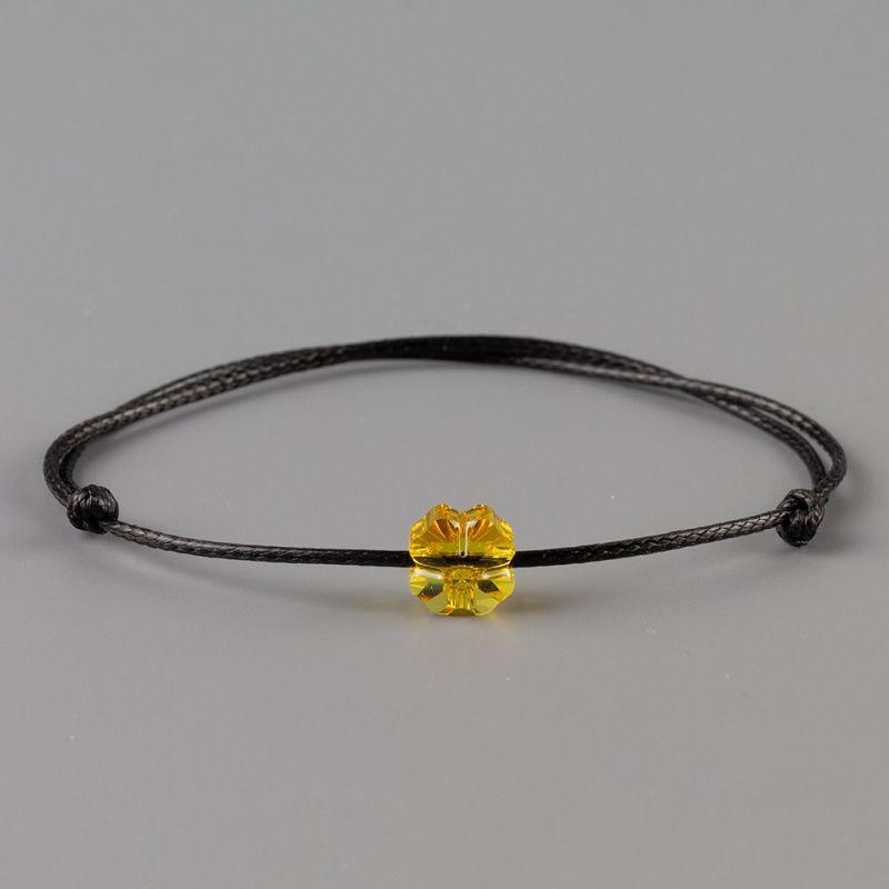 Амулет с детелина кристал Swarovski Crystal Metallic Sunshine