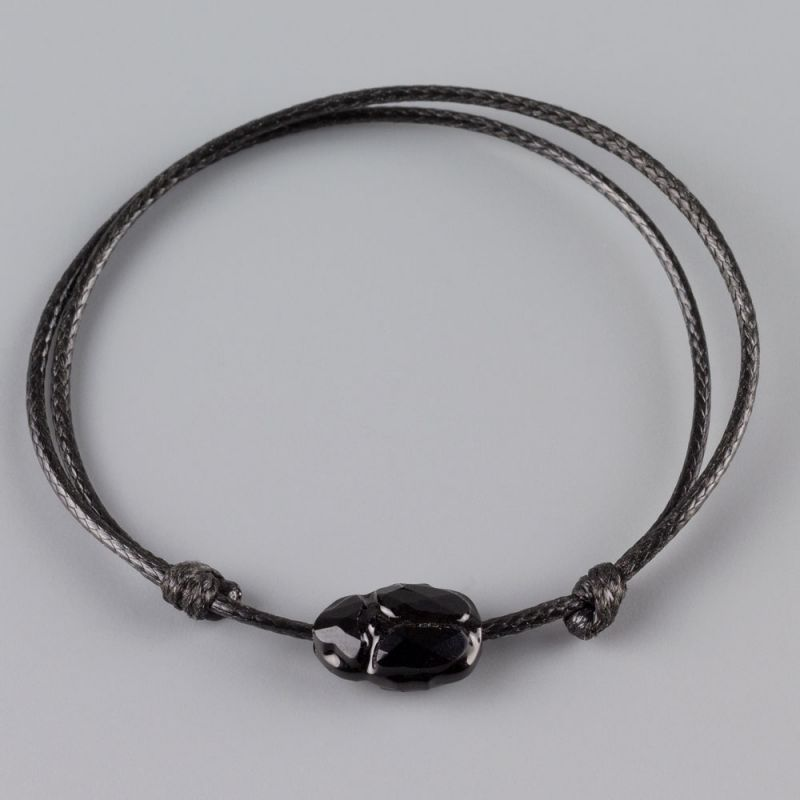 Гривна с черен скарабей кристал Swarovski