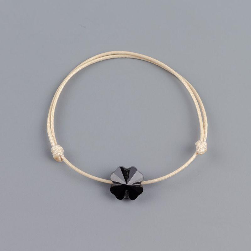 Бежова грвина с детелина кристал Swarovski elements