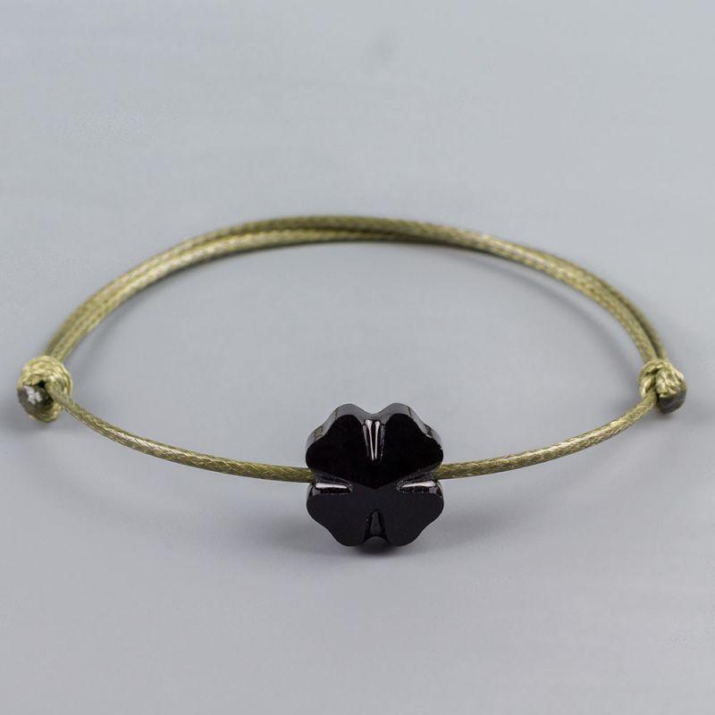 Гривна в цвят каки с четирилистна детелина кристал Swarovski® elements