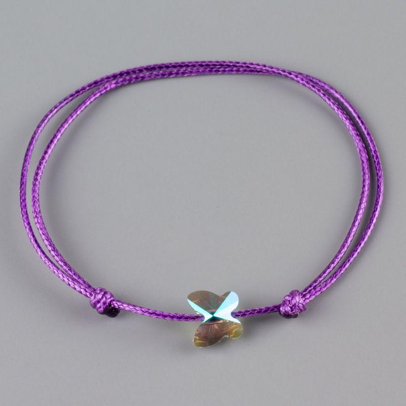 Гривна с пеперуда кристал Swarovski цвят Paradise Shine