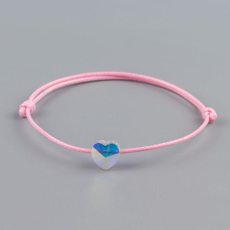 Розова гривна със сърце кристал Swarovski® elements