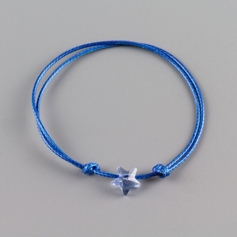 Синя гривна със звезда кристал Swarovski elements