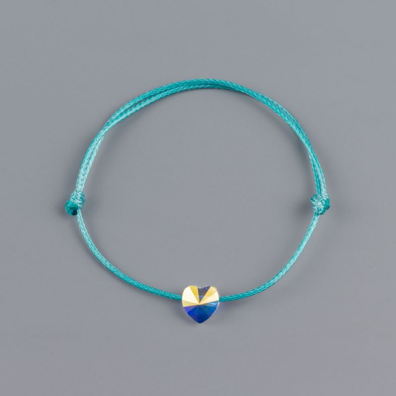 Тюркоазена гривна със сърце кристал Swarovski® elements