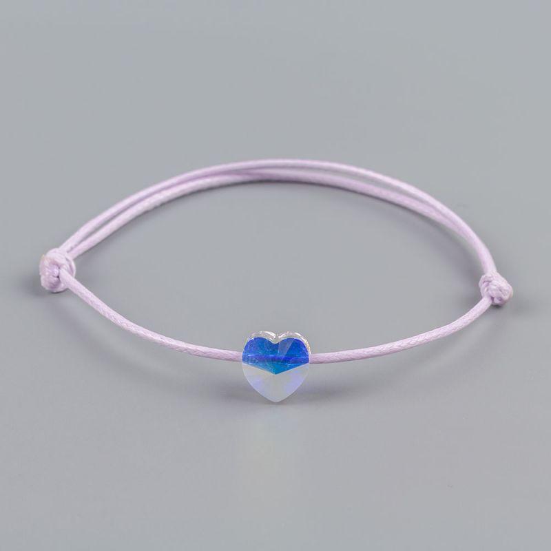 Виолетова гривна със сърце кристал Swarovski® elements