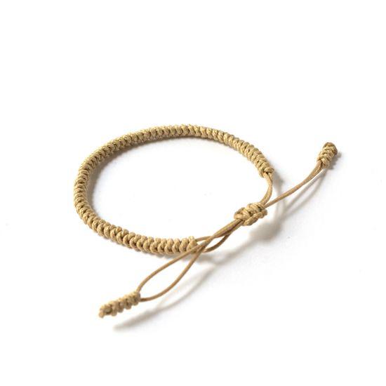 """Бежова плетена гривна - """"Тибетски възел на щастието"""""""