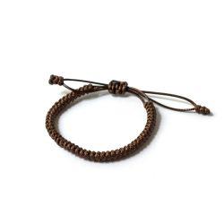 """Кафява плетена гривна - """"Тибетски възел на щастието"""""""