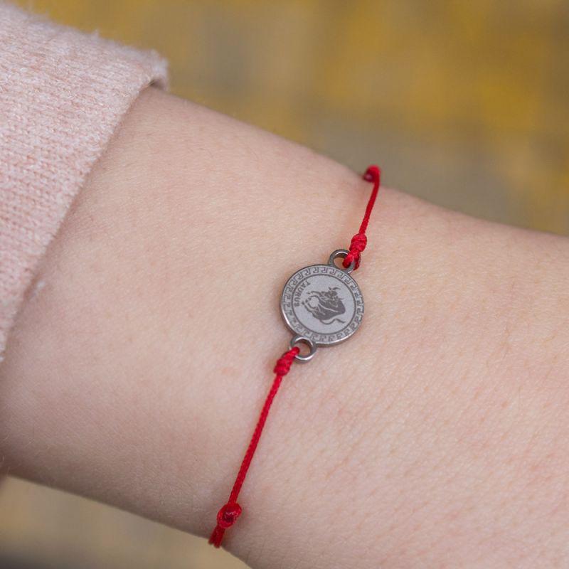 Зодиакален амулет с червен конец Телец
