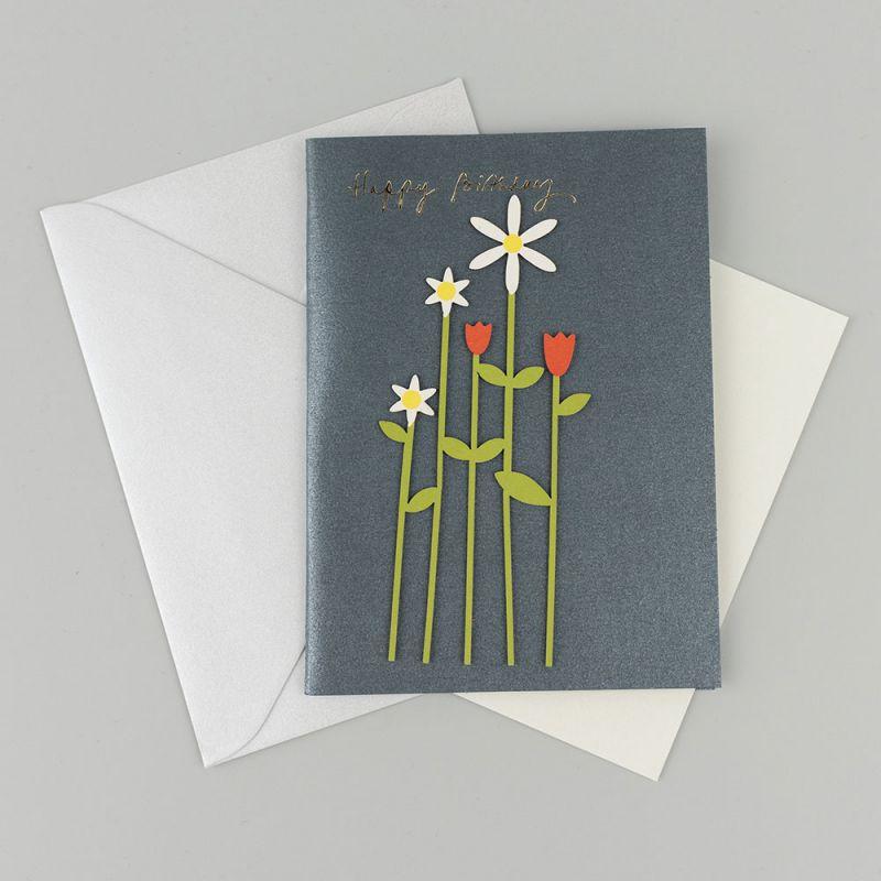 Kартичка за рожден ден с цветя
