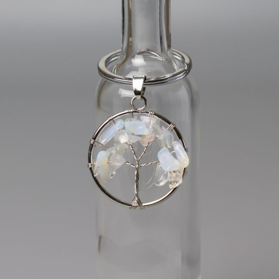 Ключодържател Дърво на Живота с Лунен камък