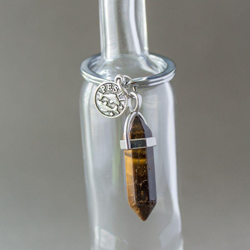 Ключодържател с полускъпоценен камък Тигрово Око