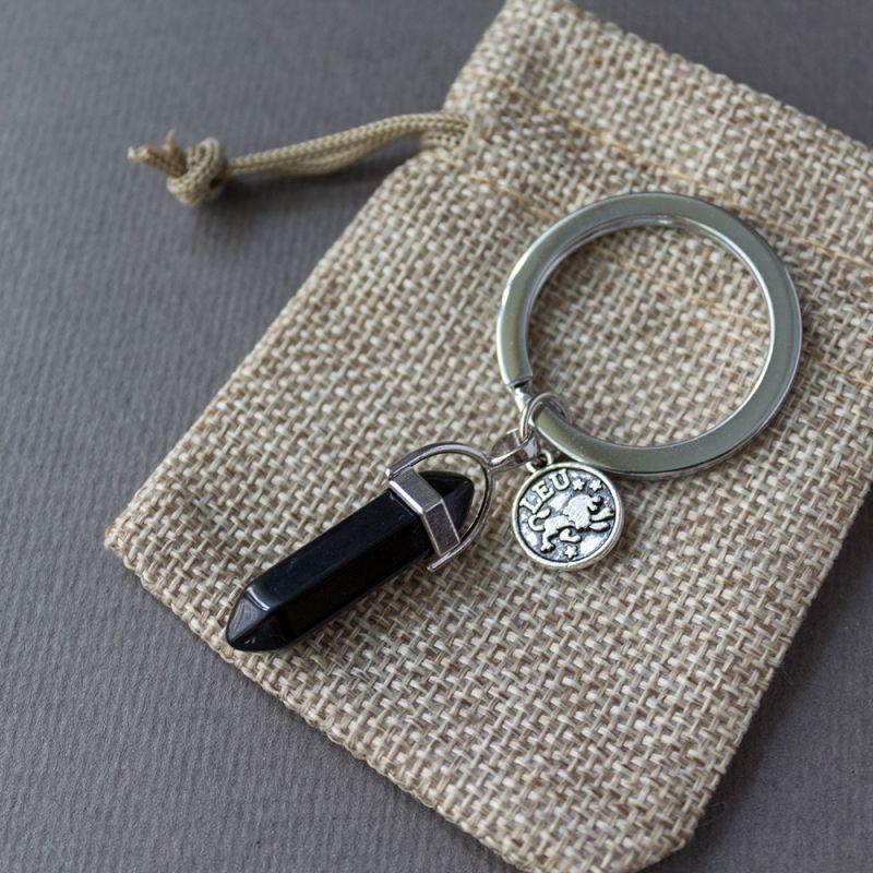 Ключодържател с полускъпоценен камък Оникс
