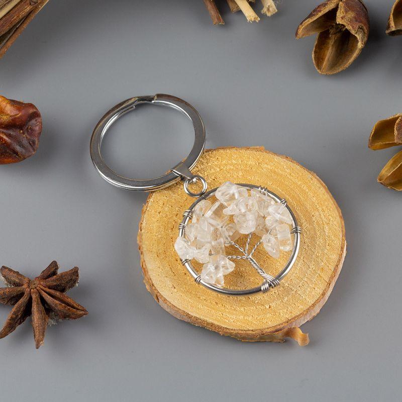 Ключодържател Дърво на Живота с Планински кристал