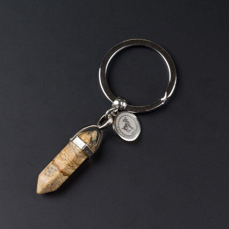 Ключодържател с полускъпоценен камък Яспис