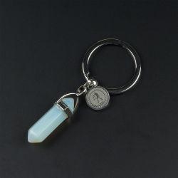 Ключодържател с полускъпоценен камък Лунен камък