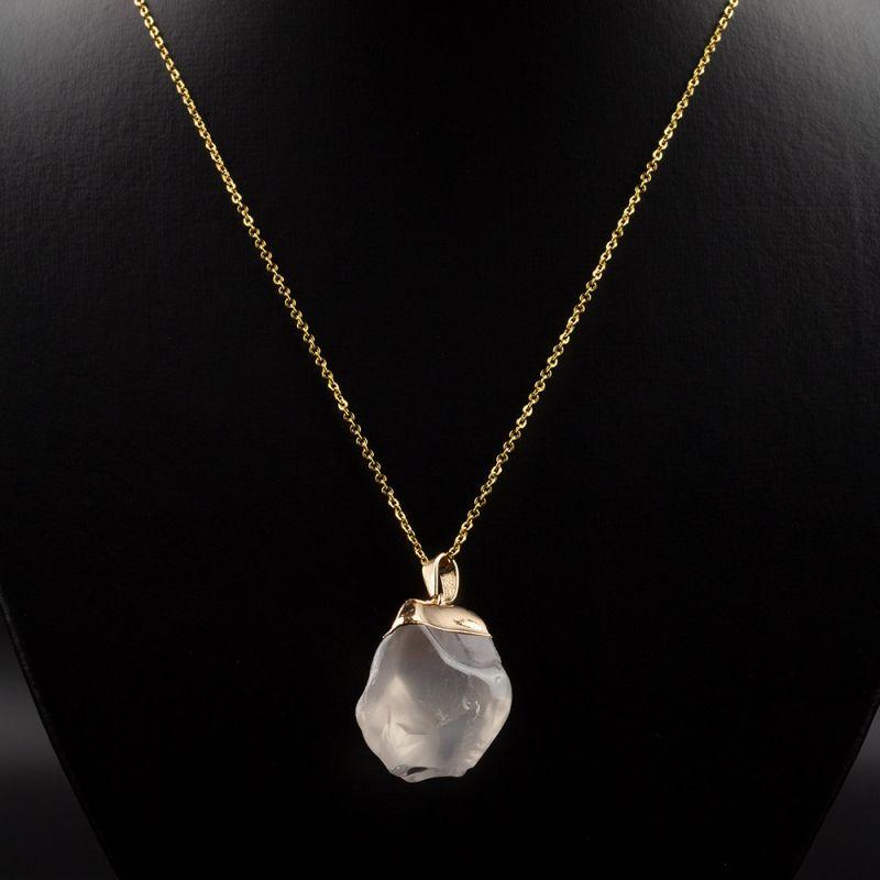 Колие с необработен камък Планински кристал