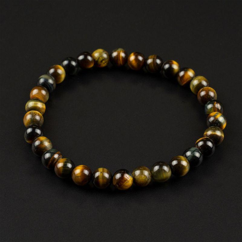 Комплект Колие и Гривна с естествени камъни Тигрово око