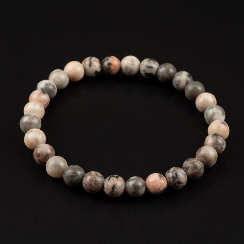 Комплект Колие и Гривна с естествени камъни Яспис Зебра