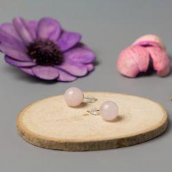 Дамски обеци с Розов кварц