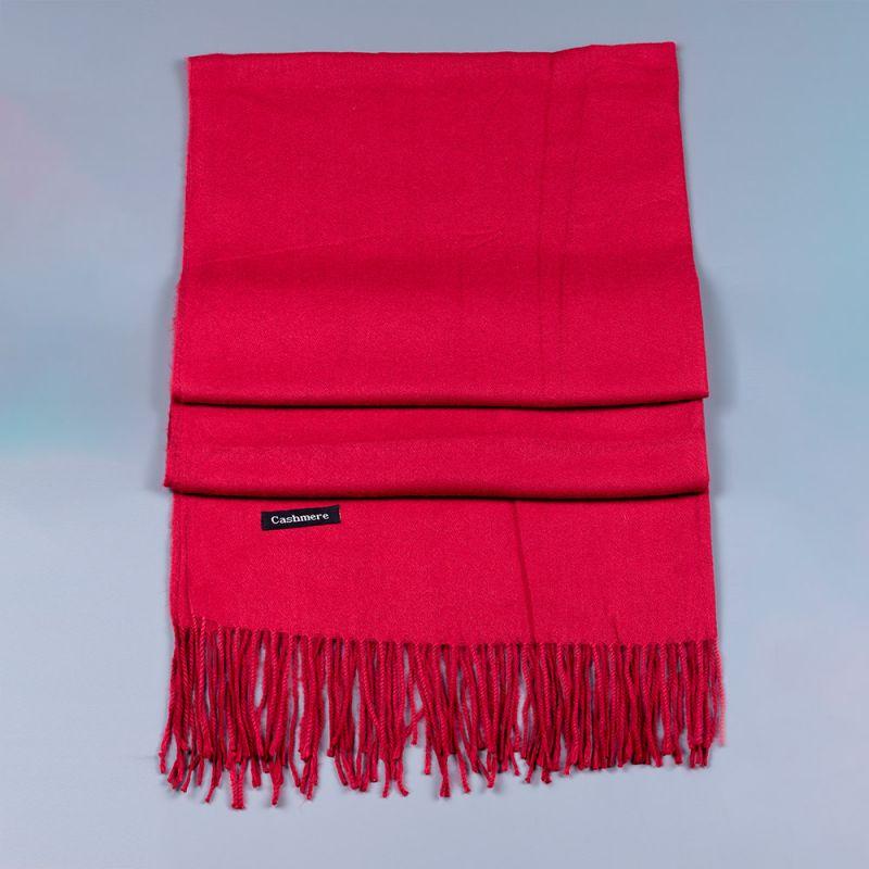 Дамски шал в цвят бордо